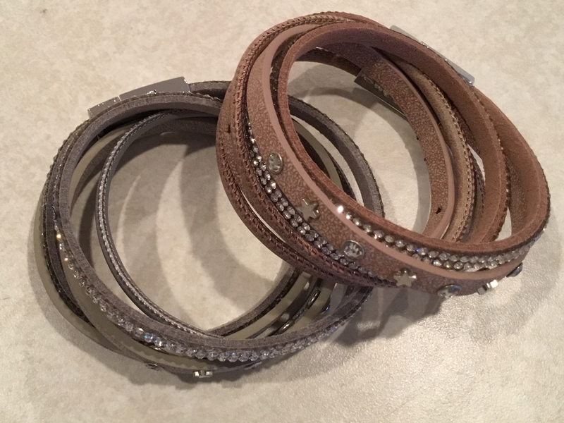 Leather Wrap Bracelet with Stars