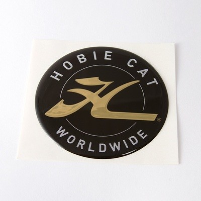 DECAL, HOBIE DOME, GOLD 2.75
