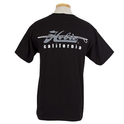CALIF BLK MENS S/S T L