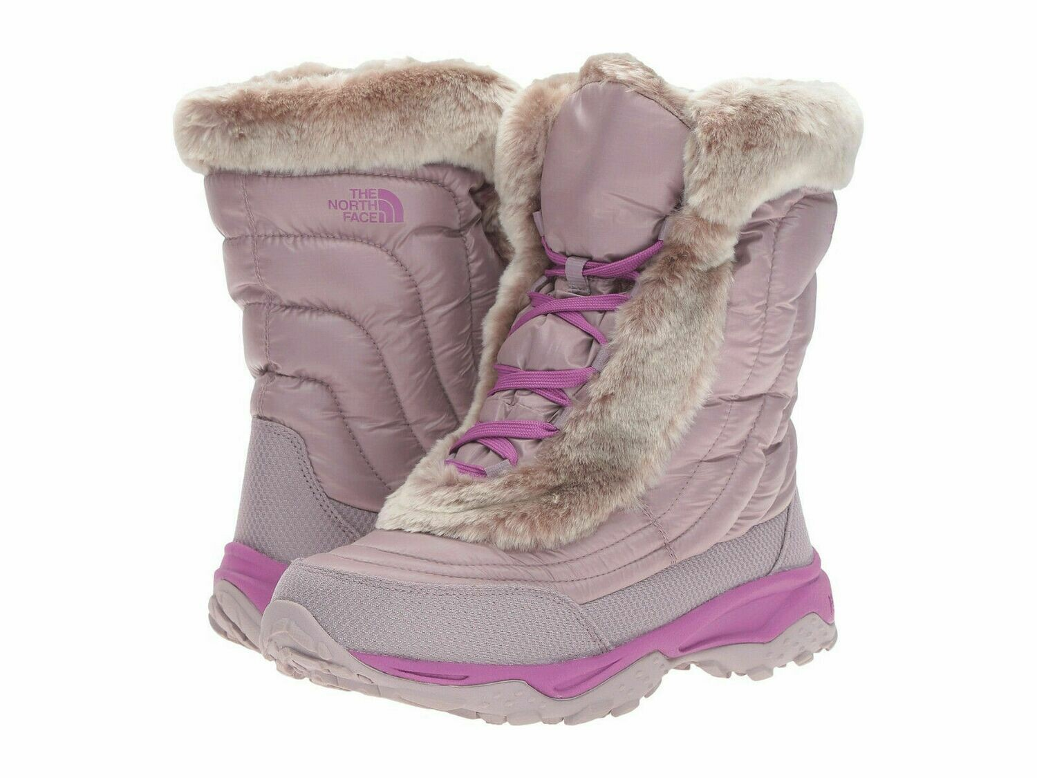 The North Face Girls' Nuptse Faux Fur II Boots
