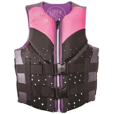 Hyperlite Women's Indy Neoprene Life Jacket - Pink/Purple
