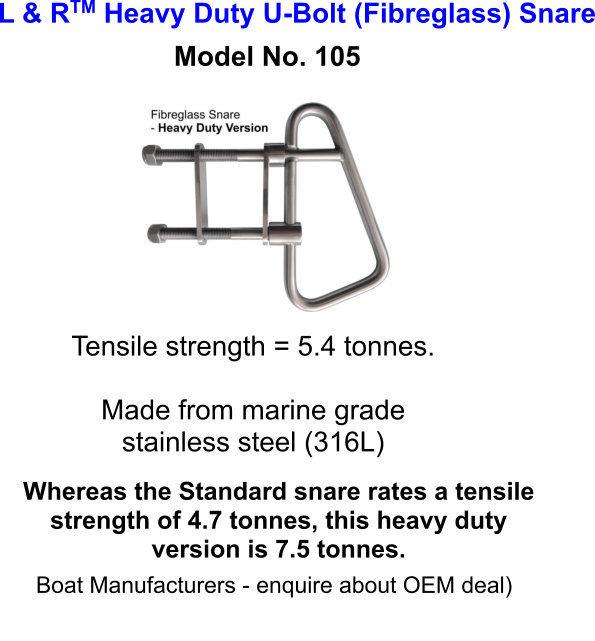 L & R Heavy Duty (Fibreglass) Snare