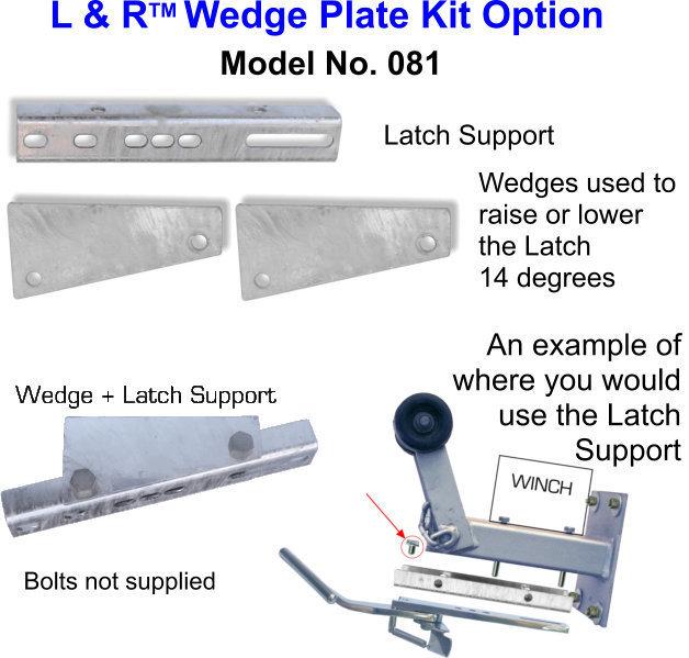 L & R Wedge Plate Kit Option