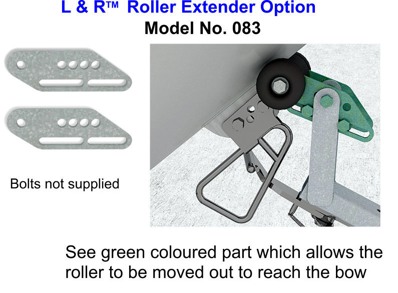 Free Freight ONLY if bought with product - L & R Roller Extender Option