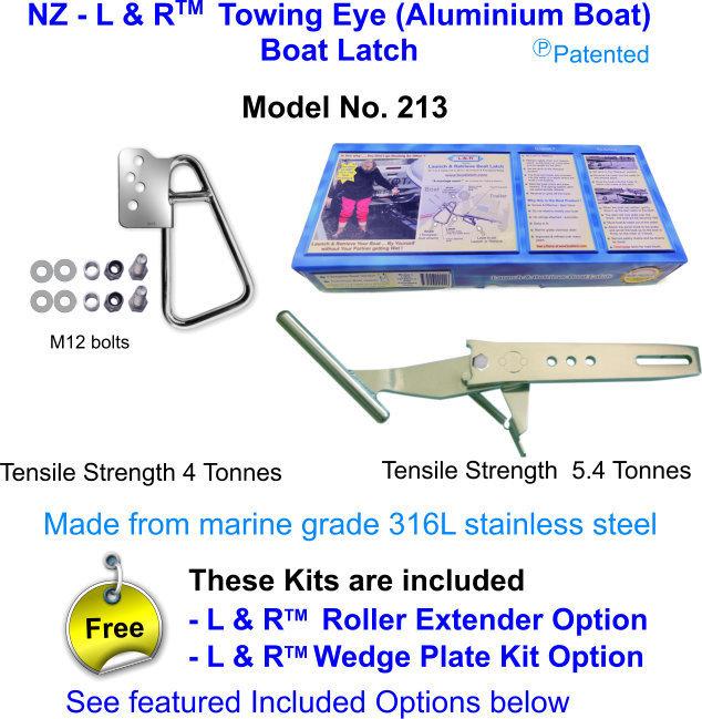 New Zealand - L & R  Towing Eye (Aluminium Boat) Boat Latch