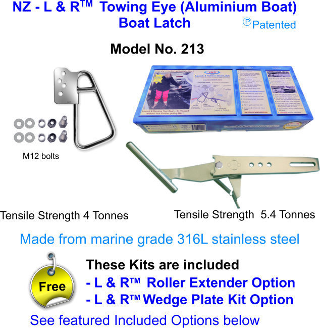 New Zealand - L & R  Towing Eye (Aluminium Boat) Boat Latch