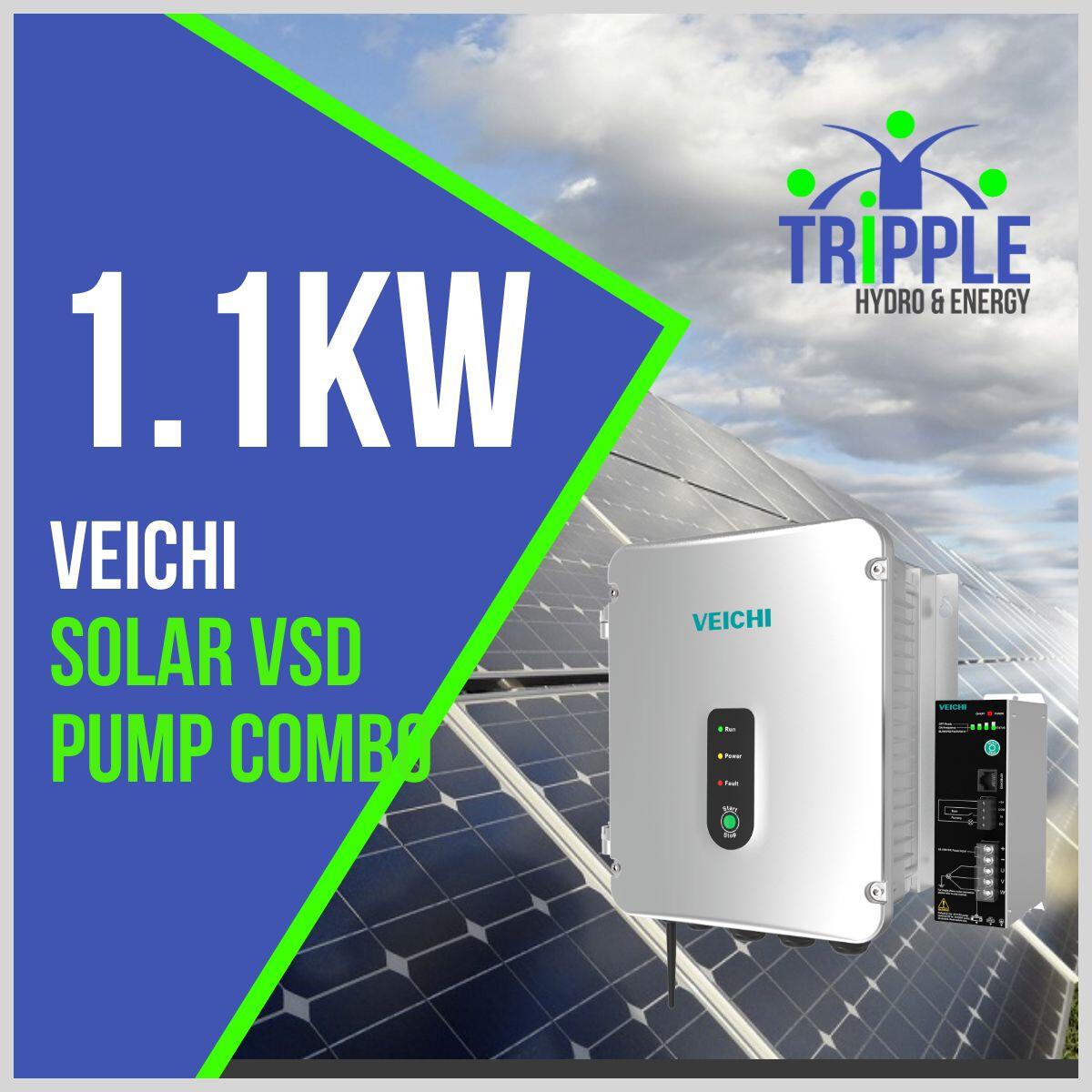 1.1kW Three Phase 220V Solar VSD Conversion Kit
