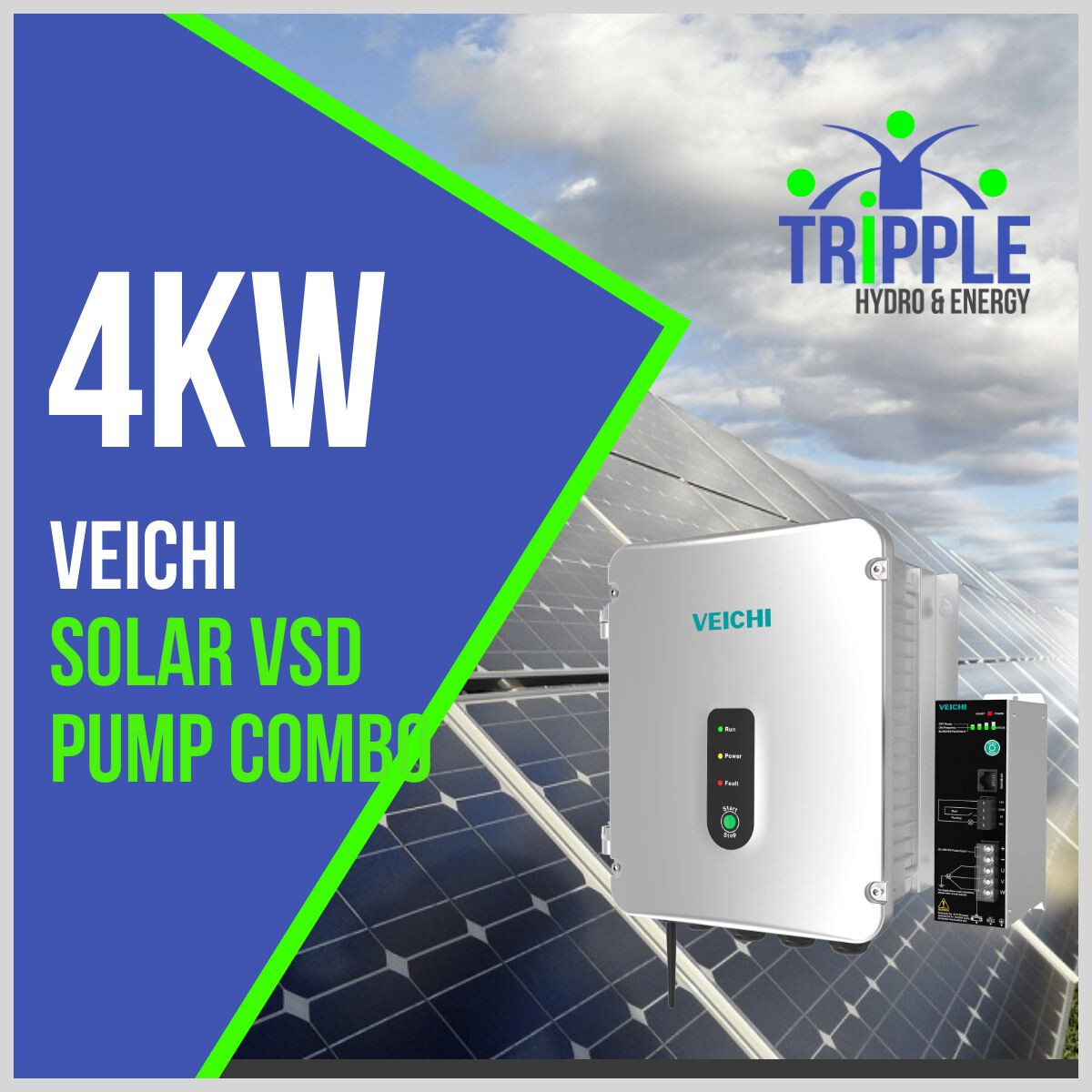 4kW Three Phase 380V Solar VSD Conversion Kit