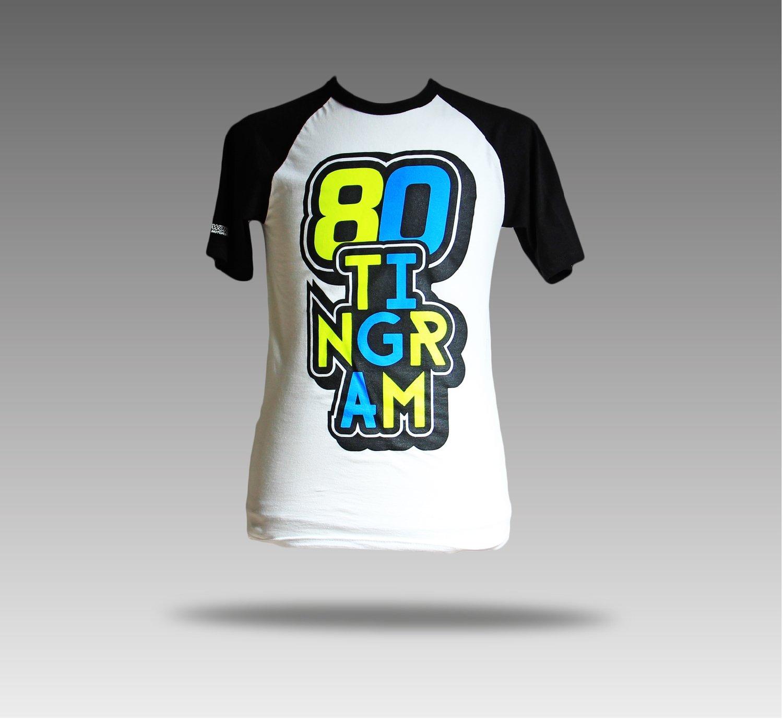 Black and White 80 Tingram T-shirt