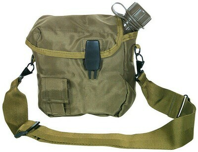 Olive Drab 2 Quart Bladder Canteen Cover and Canteen