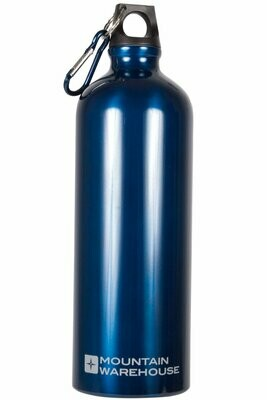 1L Metallic Bottle With Carabiner