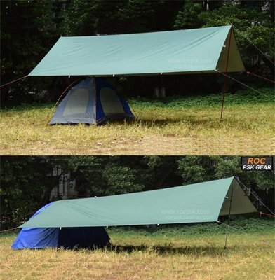 3F UL Gear 210T Green Awning / Pergola / Shelter / Tarp - silver coated underside