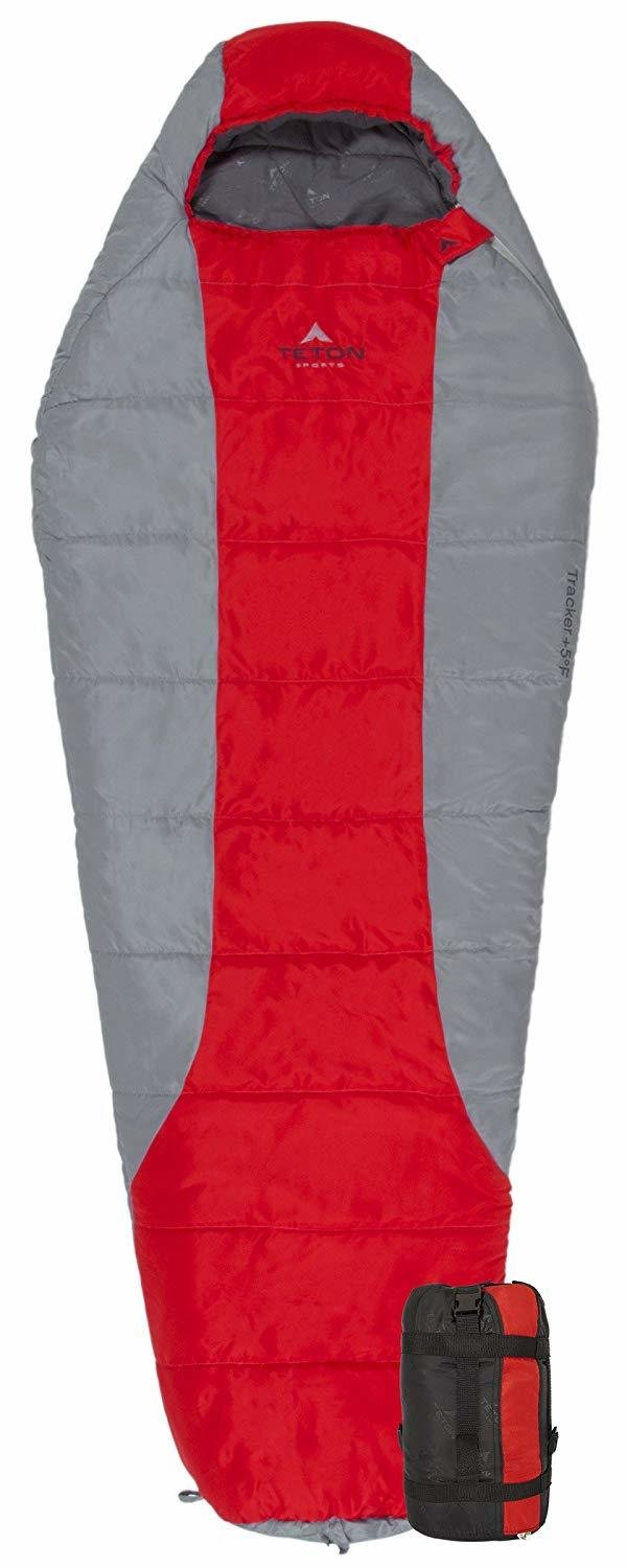 """Teton Tracker Scout -15C Short (Youth/Women) Sleeping Bag, fits up to 5 ft 6"""""""