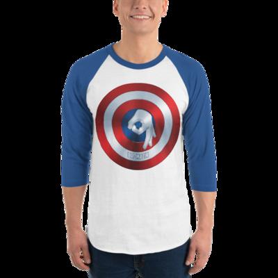 CAPTAIN BROMERICA - BROMAZIN 3/4 sleeve raglan shirt