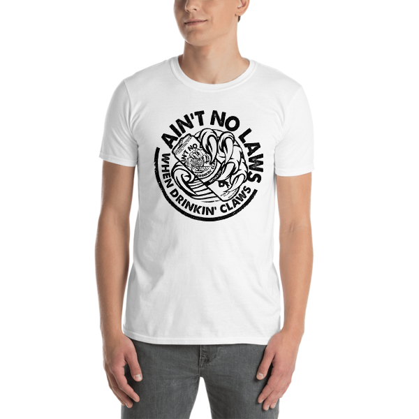 AIN'T NO LAWS - WHITE CLAW - BROMAZIN Short-Sleeve Unisex T-Shirt