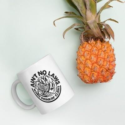 AIN'T NO LAWS - WHITE CLAW - BROMAZIN Mug