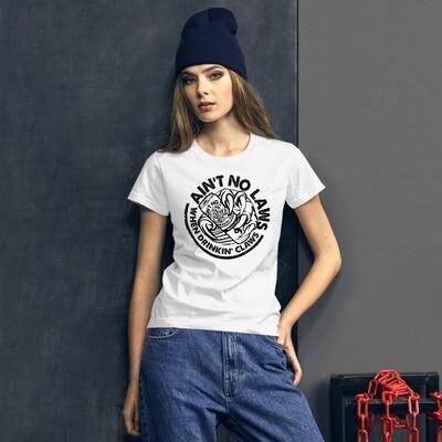 AIN'T NO LAWS - WHITE CLAW - BROMAZIN Women's short sleeve t-shirt