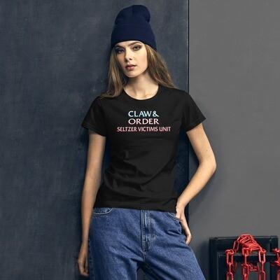 CLAW & ORDER SELTZER VICTIMS UNIT - Women's short sleeve t-shirt