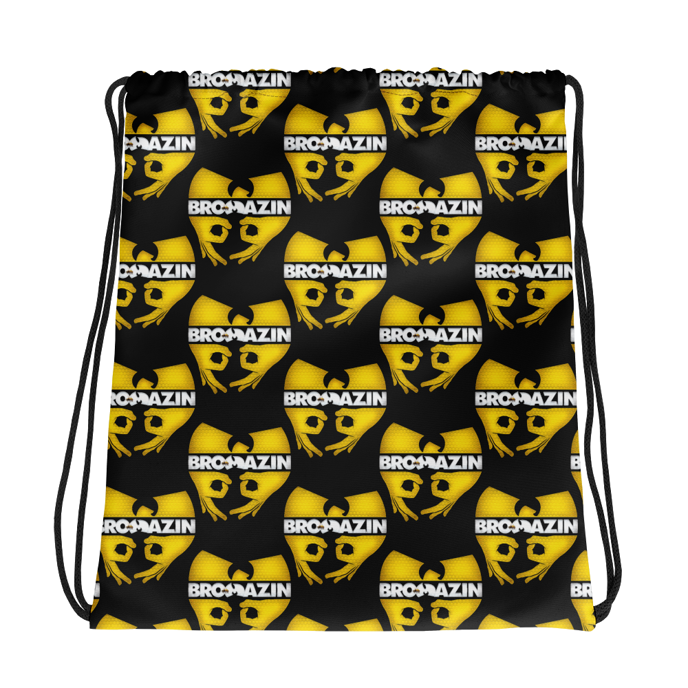 BRO TANG CLAN KILLABEE - WU-TANG KILLER BEE - BROMAZIN Drawstring bag