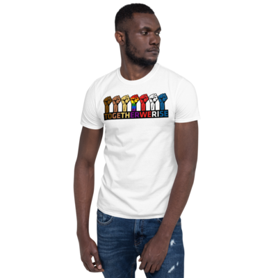 TOGETHER WE RISE Short-Sleeve Unisex T-Shirt by FLOMAZIN