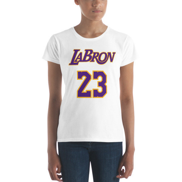 LABron Women's white short sleeve t-shirt