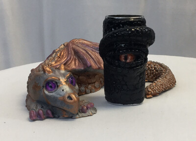 Charcoal Dragon Lighter Case