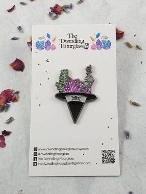 Witch Hat Enamel Pin by The Dwindling Hourglass