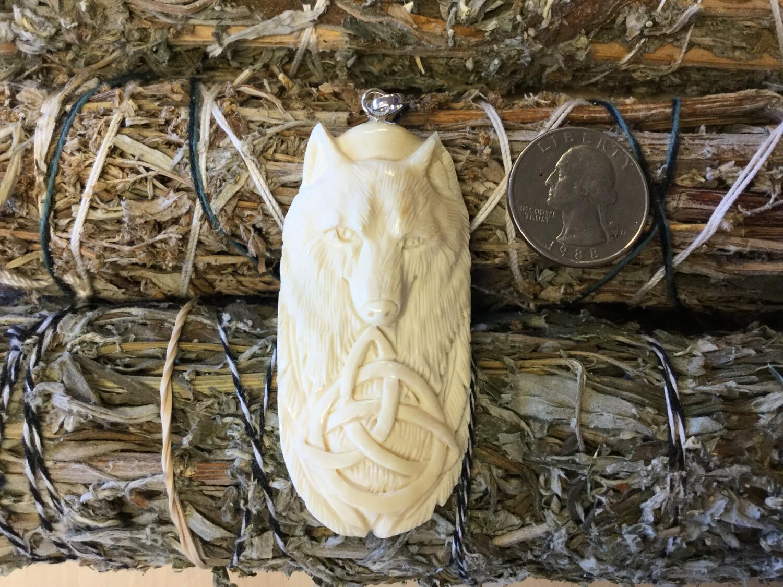 Carved Bone Pendant