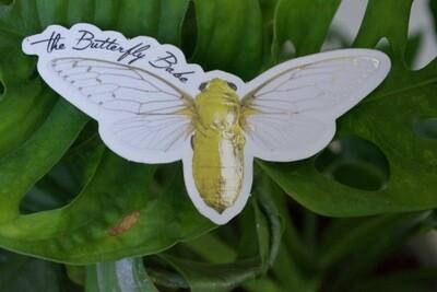 Golden Empress Cicada Metallic Sticker