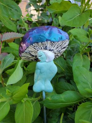 Toadstool Fairy Head Plant Stake