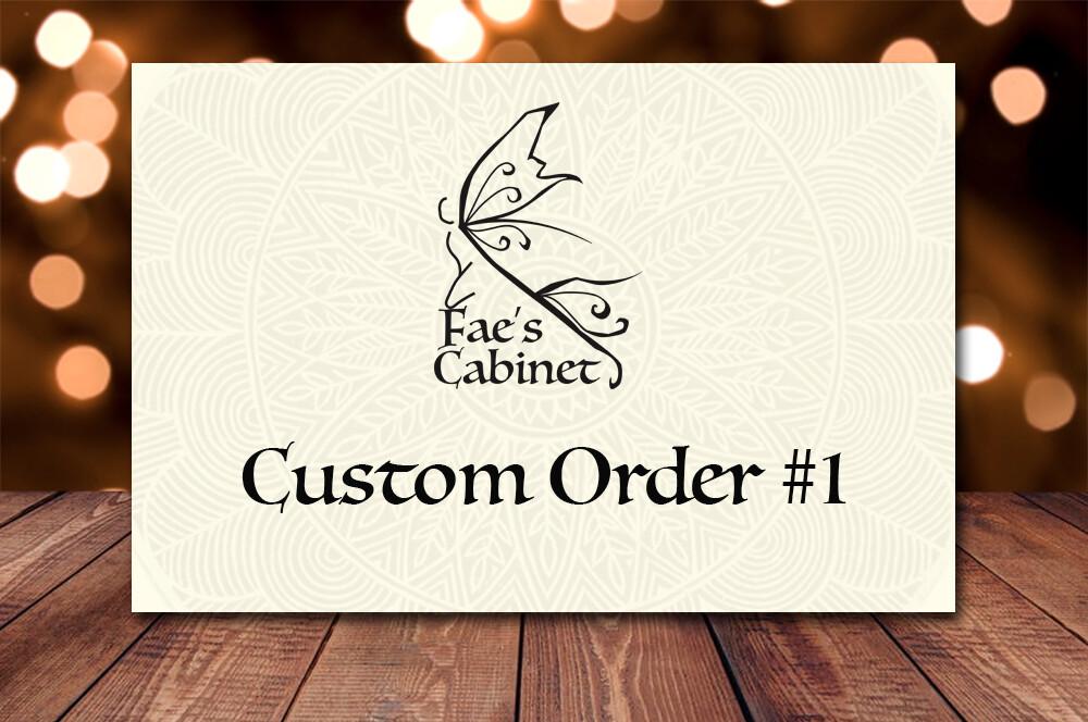 Custom order for James Carlson