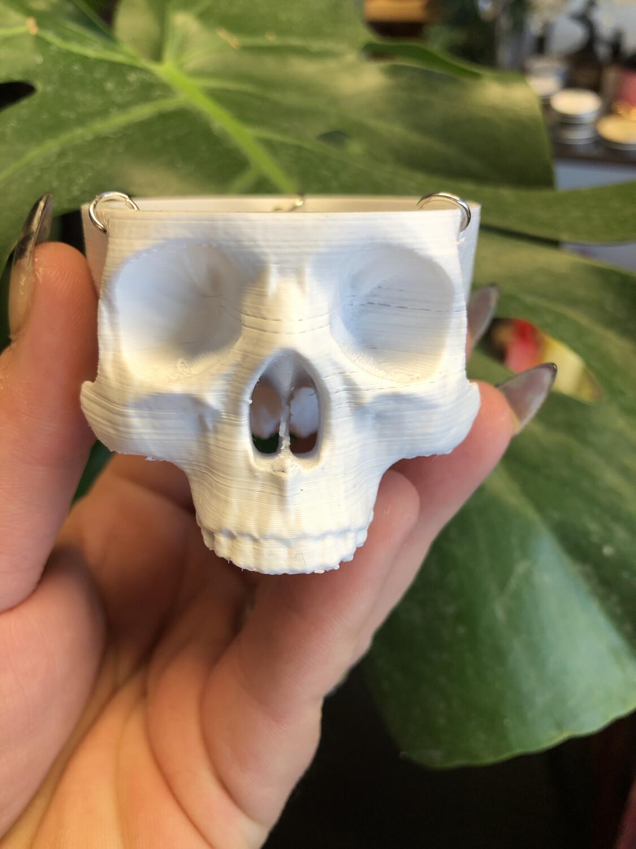 Small 3d printed Human Skull Planter