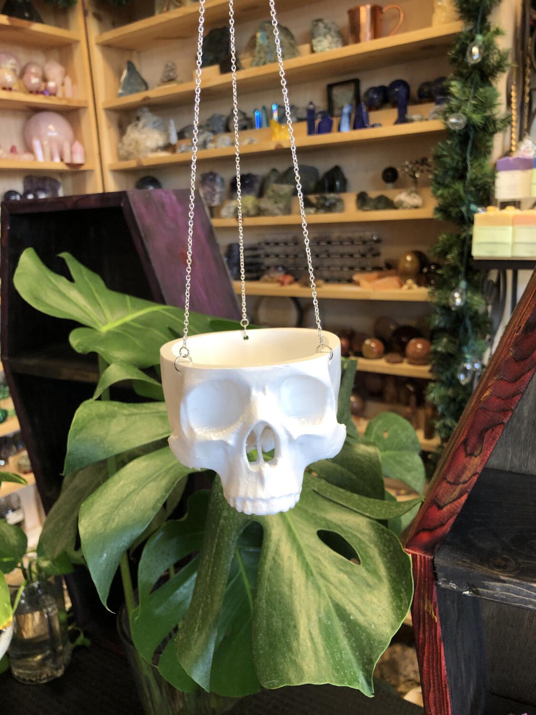Medium 3d printed Human Skull Planter