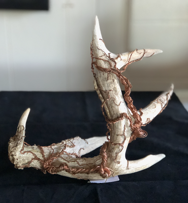 Antler with Copper Ivy