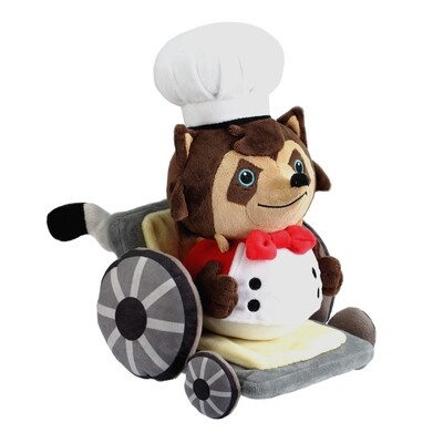 Overcooked Raccoon Chef plush  + Pin