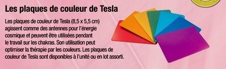 Set de 7 plaques Tesla chakras- format carte de crédit