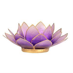 Bougeoir lotus violet