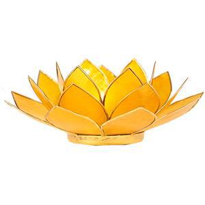 Bougeoir lotus jaune