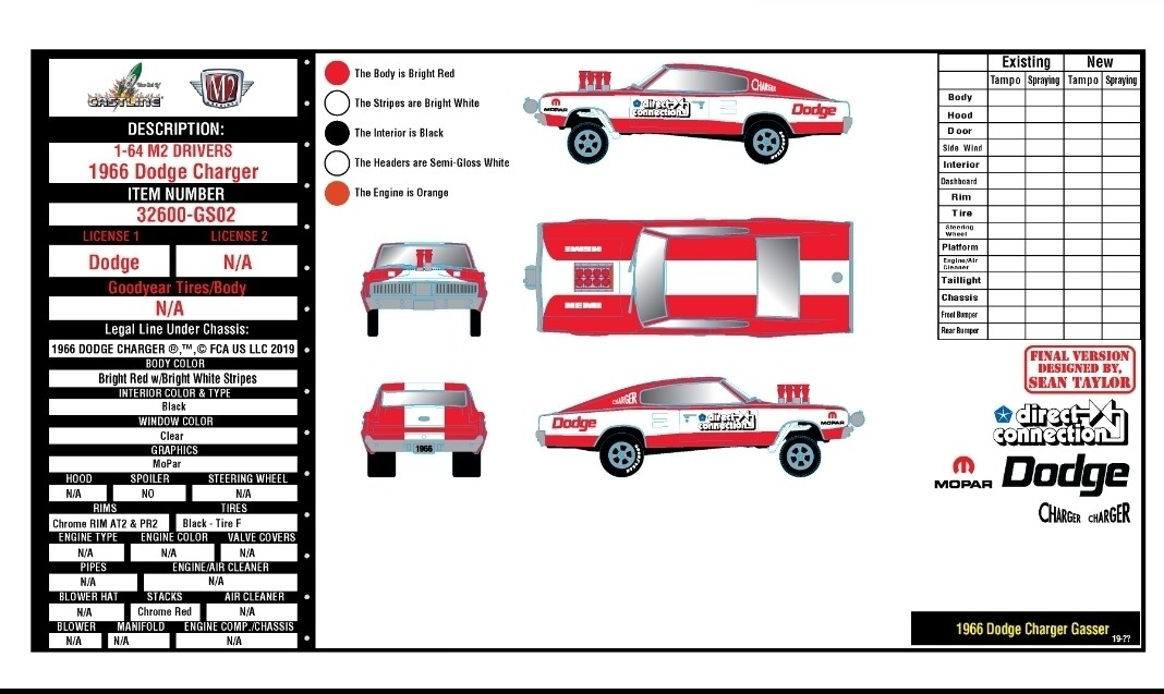 """M2 Machines 1:64 scale 1966 Dodge  Release 2 – """"HOBBY EXCLUSIVE PRE ORDER"""