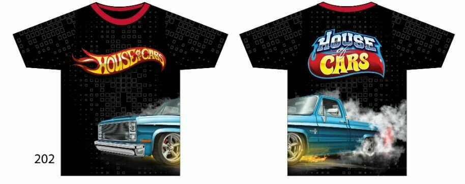 Squarebody House of Cars Short Sleeve Burnin Rubber #2 Edition Size XXL