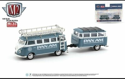 M2 Machines Mijo Exclusive 1:64 Volkswagen VW Bus Combi with custom trailer
