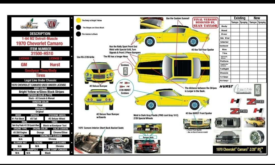 1970 Chevrolet Camaro Z/RS – HURST SUNHINE SPECIAL - PRE ORDER
