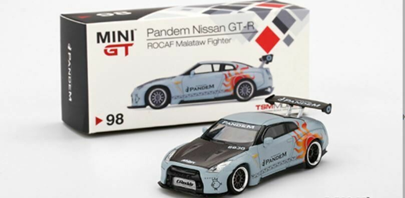 Mini GT 1:64 Pandem Nissan GT-R (R35) GT Wing ROCAF Malataw Fighter (Taiwan Exclusive)(LHD)(Flat Grey)