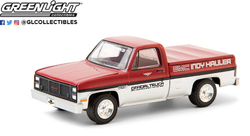Greenlight 1:64 Hobby Exclusive - 1985 GMC High Sierra 69th Annual Indianapolis 500 Mile Race GMC Indy Hauler Official Truck