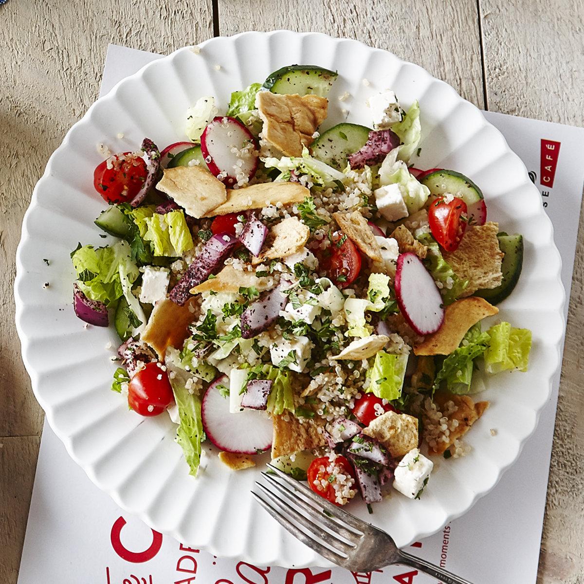 Quinoa-Fattoush Salad - Single serving