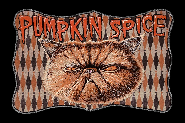 Pumpkin Spice postcard