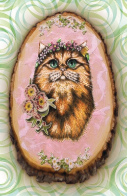 Mother Cat card