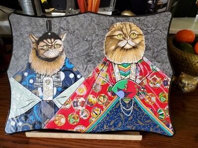 Cats wearing Ha 'Cat' Ma