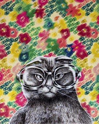 Far sighted Kitty 8x10
