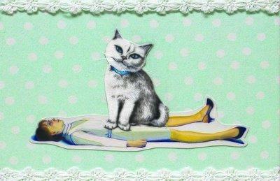 Cat Lady greeting card